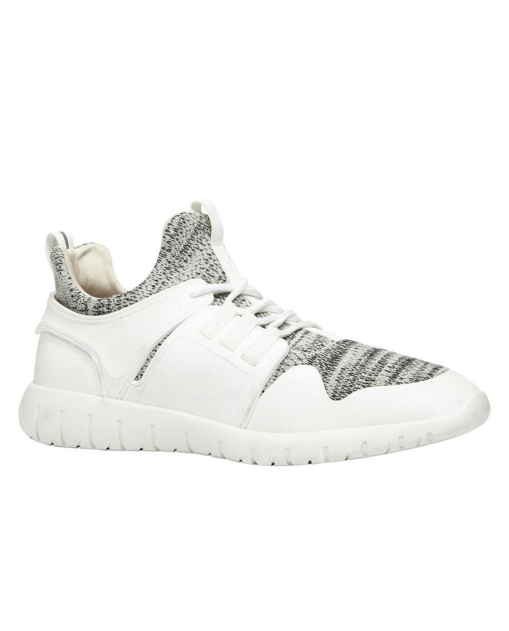 Witte sportieve sneakers - in 2 materialen - Call it Spring